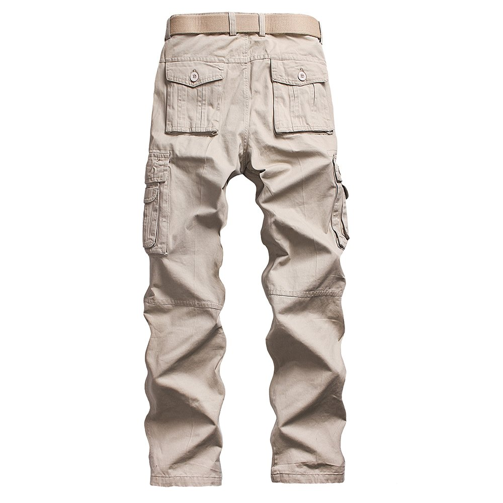Lisyline Mens Casual Outdoors Loose Fit Slim Active Cargo Work Pants