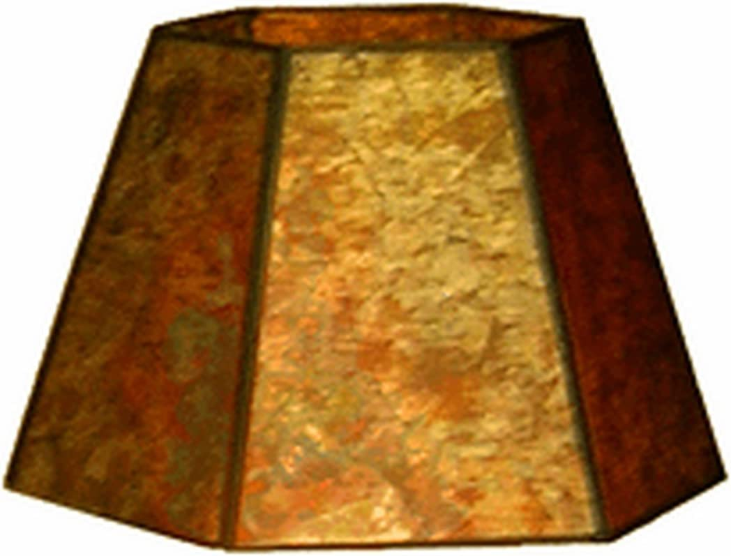 Upgradelights 12 Inch Uno Down Bridge Mica Lamp Shade Replacement for Floor Lamps 7x12x7.5