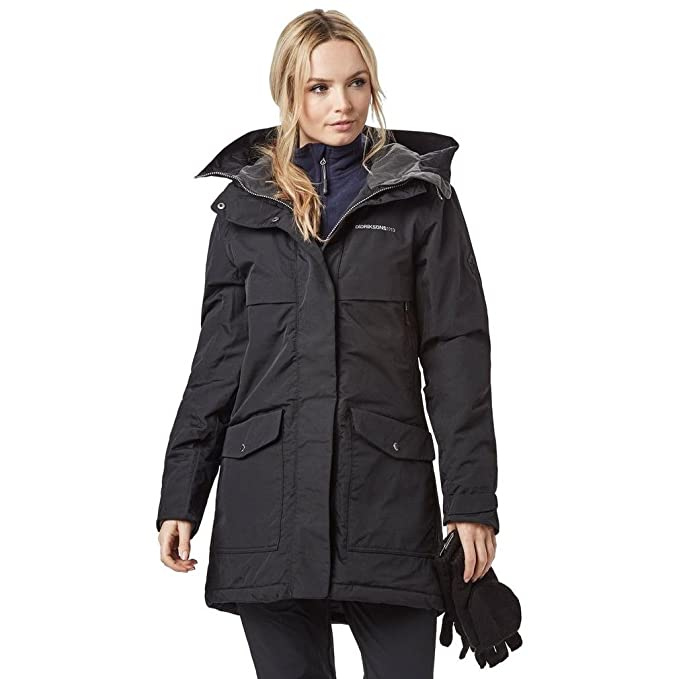 8e0a327ba1 Didriksons Ladies Frida Parka Black 38: Amazon.co.uk: Clothing
