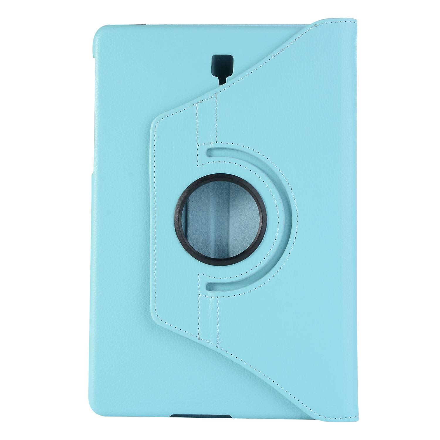 Samsung Galaxy Tab S4 10.5 Case, Businda PU Leather Full-body Rugged Protective Case with 360 Degree Rotatable Hand Strap Built-in Kickstand 2018 Galaxy Tab S4 10.5 inch Tablet-Light Blue
