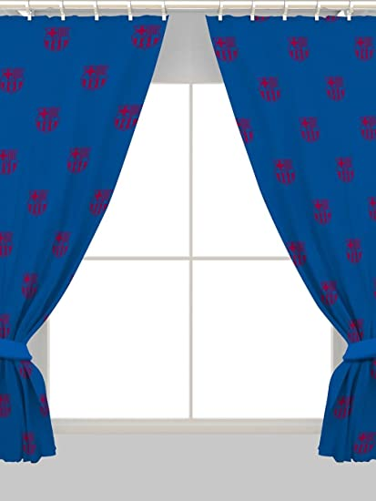 Barcelona 54u0026quot; Drop Curtains Crest Design