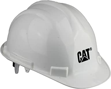 Caterpillar casco de seguridad, color blanco, talla talla única ...