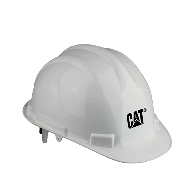 Caterpillar casco de seguridad, color blanco, talla talla única