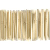 SYGA 11 Sizes 5pcs/Size Double Point Carbonized Bamboo Knitting Needles Length 13cm