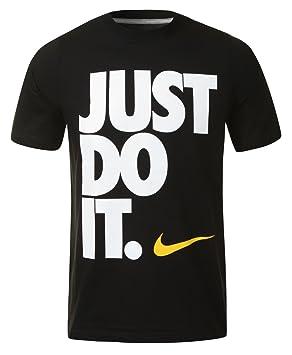 ed5d1faddd NIKE Just Do It - Camiseta de Ajuste Estrecho Unisex - Negro
