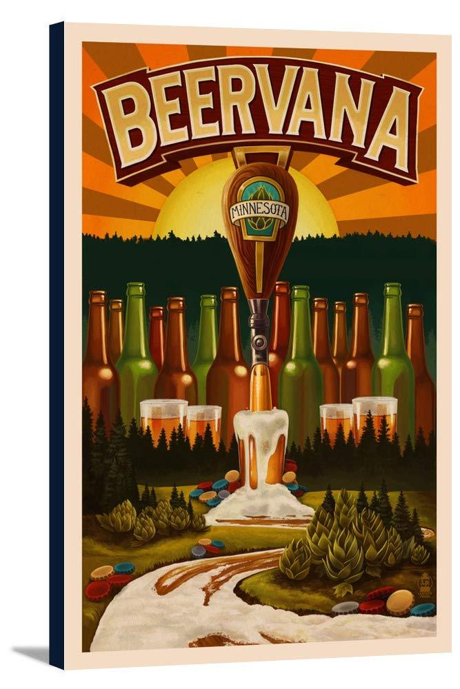 ミネソタ – Beervanaタップ 12 x 18 Gallery Canvas LANT-3P-SC-47627-12x18 B018P4VKP6  12 x 18 Gallery Canvas