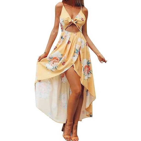 Vestidos de Mujer, ASHOP Vestido Verano 2018 Sin Mangas Casual Ajustados T-Shirt Vestido Coctel Fiesta Largo Dress Bowkot Boho Playa Falda Elegantes en ...