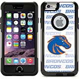 Coveroo Commuter Series Case for iPhone 6 - Retail Packaging - Black Boise State Repeating White Blu