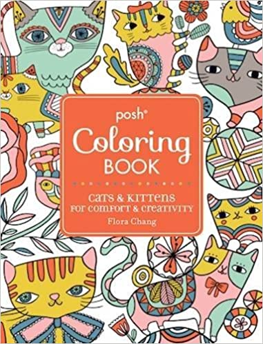 Amazon.com: Posh Adult Coloring Book: Cats & Kittens for Comfort ...