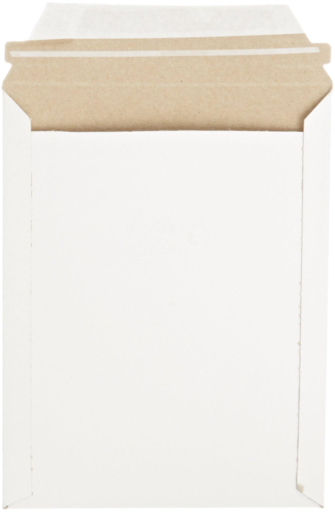 Pratt MJ-2 Self-Seal Stay Flat Mailer, White, 7'' x 9'' (Pack of 100) by Pratt