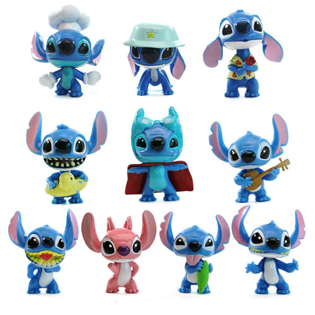 ATII Lilo & Stitch Mini Figures for Cake Topper Room Decor and Kids' Playing (10 PCS) by ATII