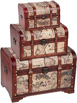 Amazon.com: Cofre de madera, cofres y baúles para ...