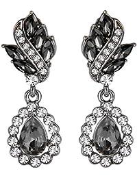 Women's Austrian Crystal Art Deco Tear Drop Earrings