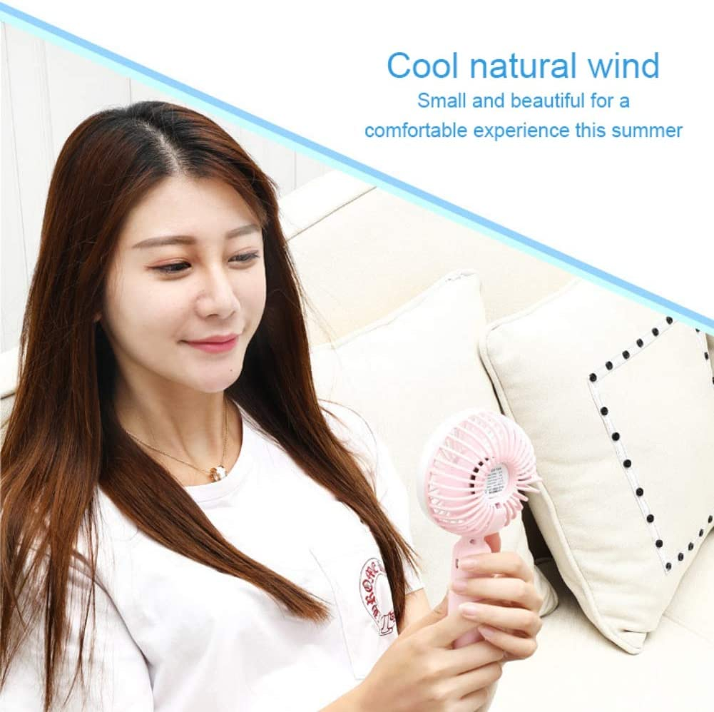 Office Susenc Handheld Mini Fan with Base Portable USB Charging Silent Personal Fan for Home Outdoor and Travel