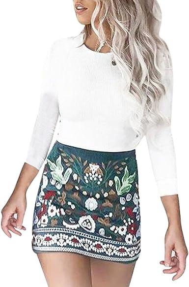 35% de Descuento para la Falda Minifalda de Bodycon con Estampado ...