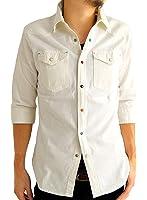(アーケード) ARCADE メンズ ストレッチ ウエスタン カラーボタン デニムシャツ 7分袖シャツ 長袖シャツ