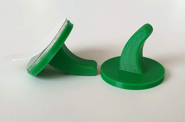 Klebehaken-selbstklebende Handtuchhaken-f/ür leichte Gegenst/ände blau 10 x selbstklebende Kunststoffhaken