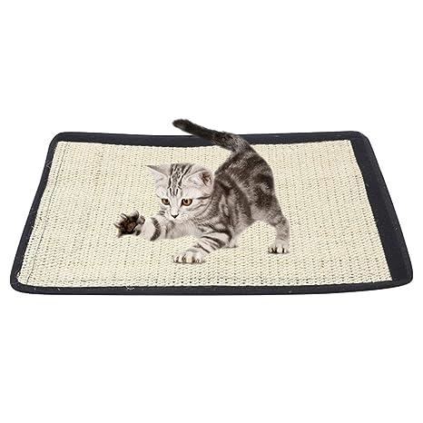 Milong Alfombrilla Arañar Alfombra Rascadora para Uñas de Gatos para Proteción Patas de Mesa Muebles y