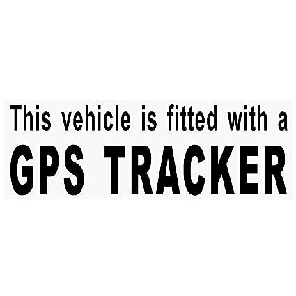 4 x negro equipado con un GPS Tracker seguridad ventana pegatinas para coche, Van,