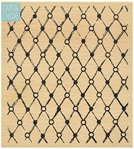 Hampton Art Cam & Chloe Vintage Wire Mounted Stamp, 4 x - Vintage Chloe