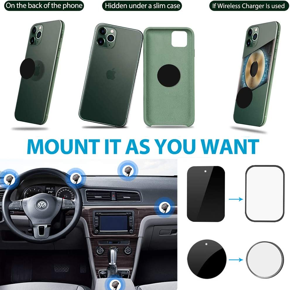 360/° Adjustable Universal Windshield Phone Stand Compatible with iPhone 11 pro//All Cell Phones Magnetic Dashboard Phone Car Holder CISID Car Phone Holder Mount