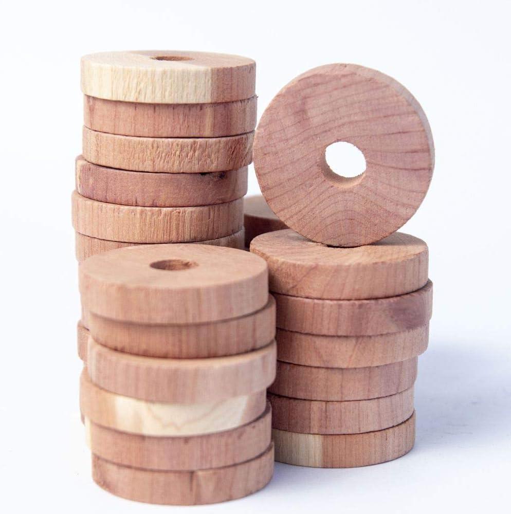 ingsi 40PCS Cedar Circle Cedar Blocks for Clothes Storage 100/% Natural Cedar Balls Hangers 40 Pack Storage Accessories Closets /& Drawers