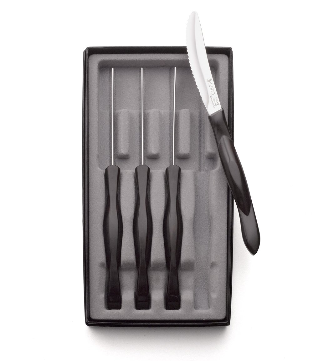 Cutco #1865 4-Pc. Table Knife Set in Gift Box (Classic black handle) by Cutco