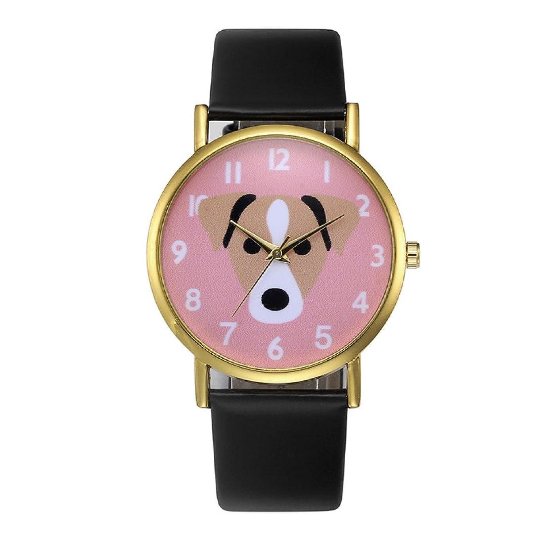 SinmaキュートピンクWatchesレディースガールズゴールドフレームクオーツ腕時計アナログラウンド腕時計 B071V7VR5J