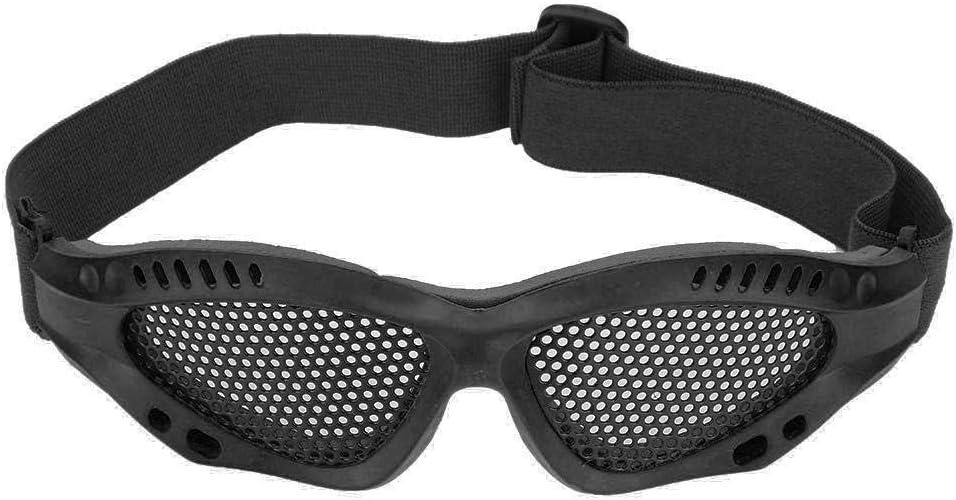 Alomejor 1 par de Gafas de Malla Airsoft Gafas de protección Ocular con Correa Ajustable para Disparos tácticos