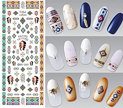 Nail Art Water Transfer Stickers Feather - DS271 Nail Sticker Tattoo - FashionLife
