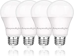Ampoulight 150-200W Equivalent LED Light Bulb, A21 Natural Daylight 5000K 2200LM Non-Dimmable E26 Medium Screw Base 20W Light Bulb (4 Packs)