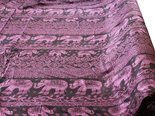 raanpahmuang-printed-rayon-fabric-indian-elephant-procession-42inch-x-3yard-bolt-puce-pink