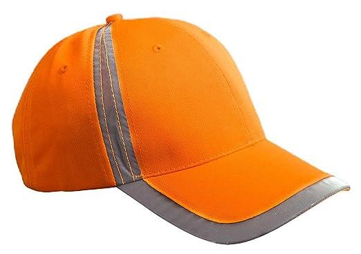 amazon com bx poly reflective safety cap bright orange os