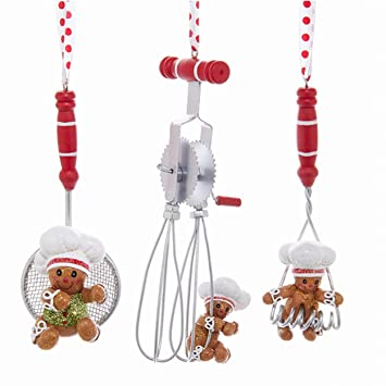 Image Unavailable. Image not available for. Color: Gingerbread Chef and Kitchen  Utensils Christmas Holiday Ornaments ... - Amazon.com: Gingerbread Chef And Kitchen Utensils Christmas Holiday
