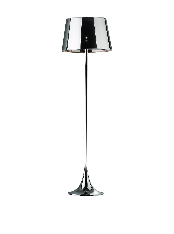 Ideal lux london pt1 e27 100 w chrome floor lighting floor lighting bedroom childrens room dining room living room chrome metal pvc ip20 i e27