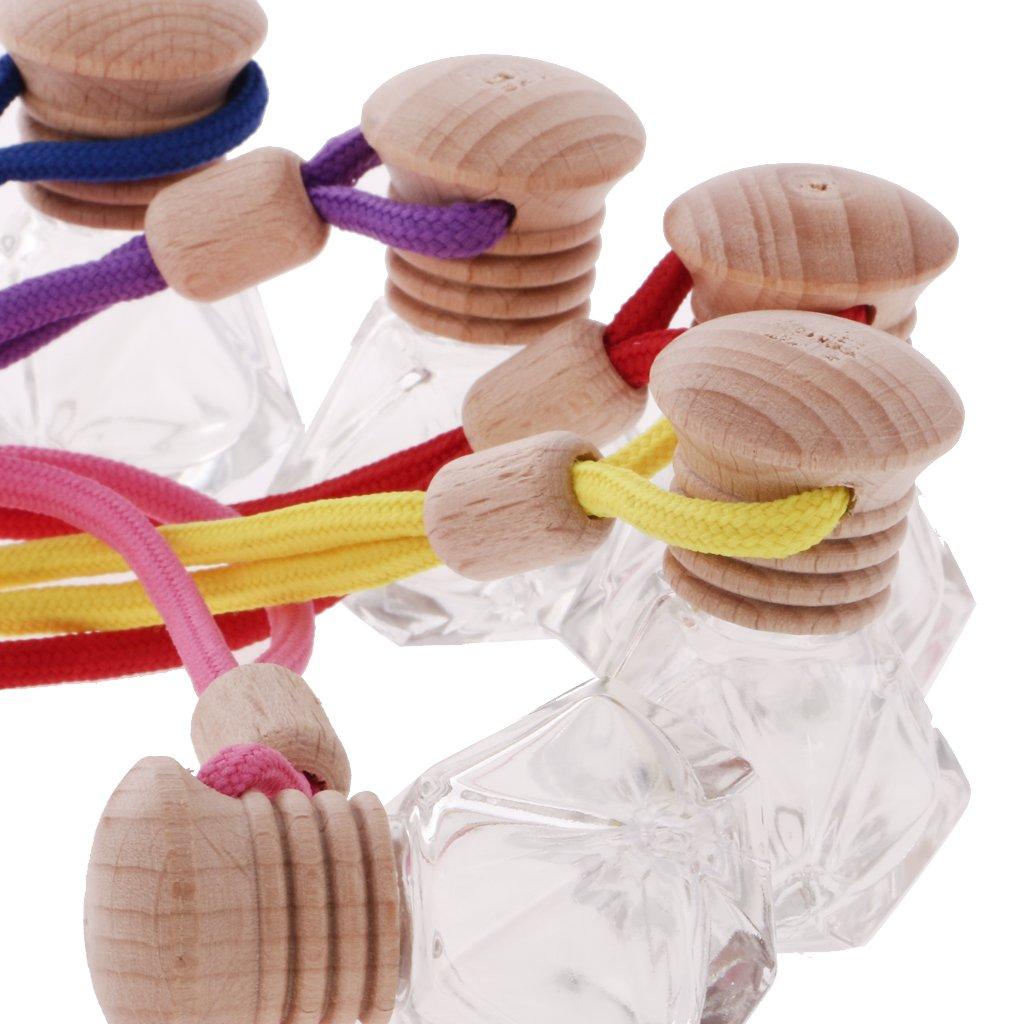 Rombo MagiDeal Pendente per Specchietto Bottiglia di Profumo Vuota di Vetro Fascino per Auto Ciondoli Decorazione Appeso