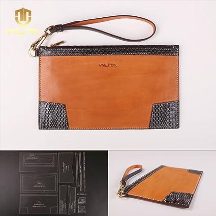 Amazon Com Wuta Leather Women Ladies Clutches Wallet Acrylic