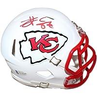$139 » Travis Kelce Autographed Kansas City Chiefs White Matte Mini Helmet BAS