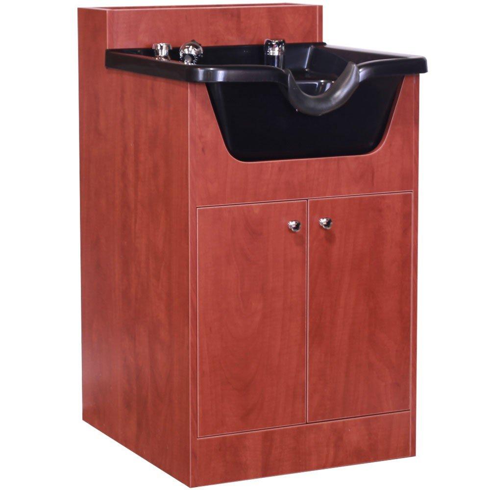 ''TUCKER'' Cherry Pearwood Salon Beauty Shampoo Cabinet w/ Bowl SU-21CP