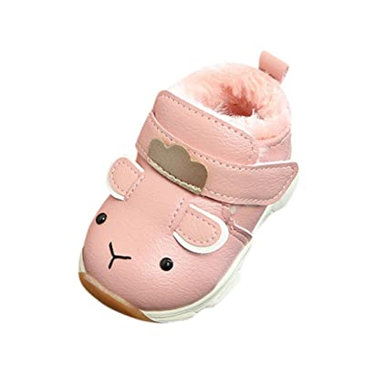 Amiley Cut puppy dog Baby Warm Infant Boys Girls Martin Cartoon Leather Waterproof Sneaker Kids Casual Boots Shoes