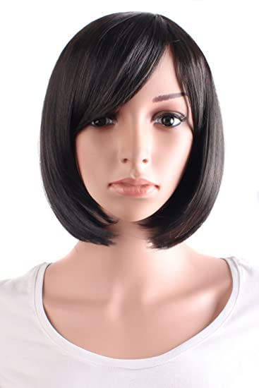 "MapofBeauty 30cm/12"" Side Bangs Synthetic Synthetic Straight Short Wig ..."
