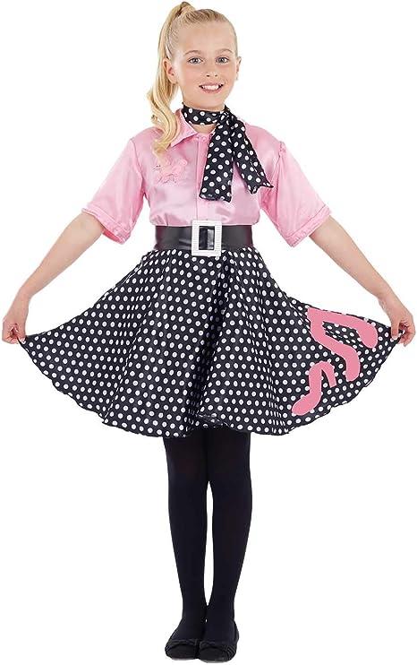 Fun Shack Rosado Vestido Rock n Roll Disfraz para Niñas - L ...