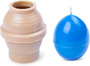 Candle Shop - Egg Shaped Candle Mold - Height: 2 in, Width: 1.6 in - 30 ft. of Wick Included as a Gift - Plastic Candle molds for Candle Making