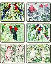 Cinnamon Australian Parrots Coasters