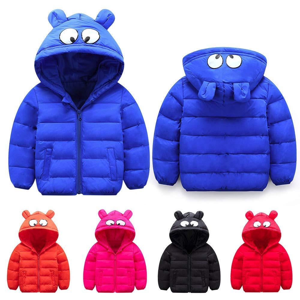 Dolwins Winter Coats Cartoon Big Eyes Girl Warm Jacket Zip Thick Ears Hoodie Clothes
