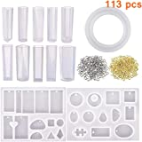 Phoneix Jewelry Casting Mold Silicone Resin Molds for Jewelry Pendants Bracelet Making for Women Girls(113PCS)