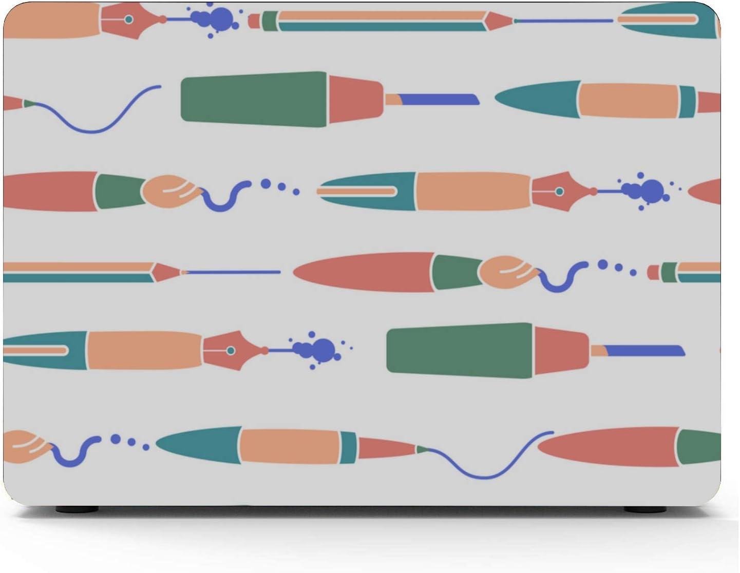 Mac Book Pro Accessories School Creative Art Fashion Pen Writing Plastic Hard Shell Compatible Mac Air 11 Pro 13 15 MacBook Pro 2018 Accessories Protection for MacBook 2016-2019 Version