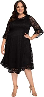 product image for Kiyonna Women's Plus Size Livi Lace Dress
