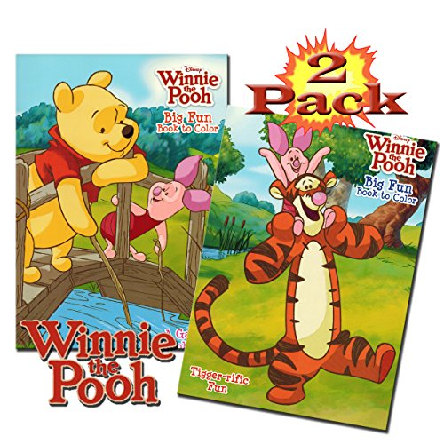 (Disney Winnie The Pooh Coloring And Activity Book Set (2 Books - 96 Pages))