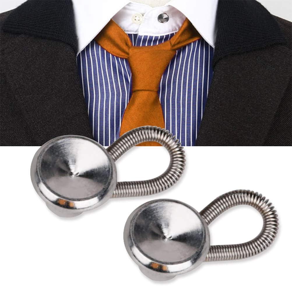 SUPVOX - Alargador de Cuello de botón de Metal para Vestido de Camisa, Pantalones, Abrigo con Cuello de pantalón: Amazon.es: Hogar